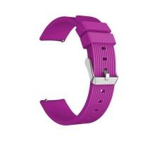 Сменный браслет 20мм (Amazfit GTR 42mm, Bip, Haylou LS01, LS02) ребристый (Фиолетовый)