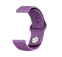 Сменный браслет 22мм (Amazfit GTR 47mm & Haylou LS05) однотонный (Фиолетовый)