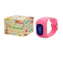 Часы Smart Watch Детские Q50 LBS+LCD Розовые