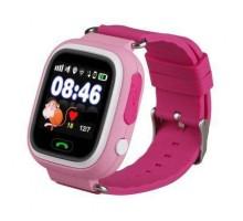 Часы Smart Watch Q90 Детские GPS Розовые