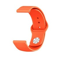 Сменный браслет 22мм (Amazfit GTR 47mm & Haylou LS05) однотонный (Оранжевый)