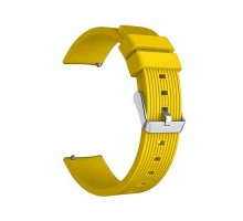 Сменный браслет 20мм (Amazfit GTR 42mm, Bip, Haylou LS01, LS02) ребристый (Желтый)